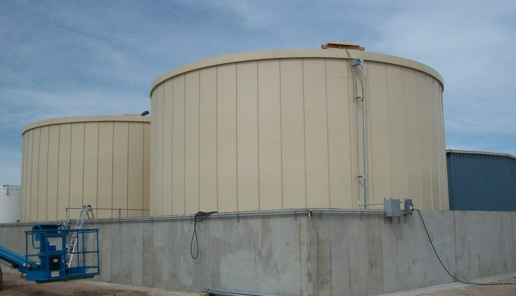 Etonnant Ground Storage Tanks | Cheyenne WY | RIDGLOK® Vertical Standing Seam  Insulated Panel System Panels In Fawn Color. The Chemical Storage Tanks  Were 32.68u0027 ...