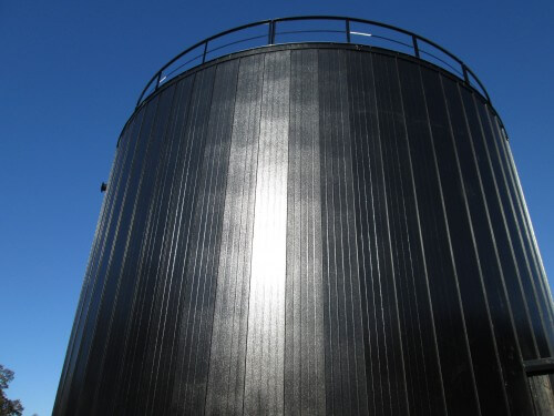 Heaven Hill distillery welded fire protection tank