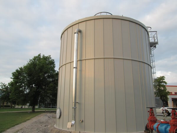 auto manufacturing plant fire protection tank insulation